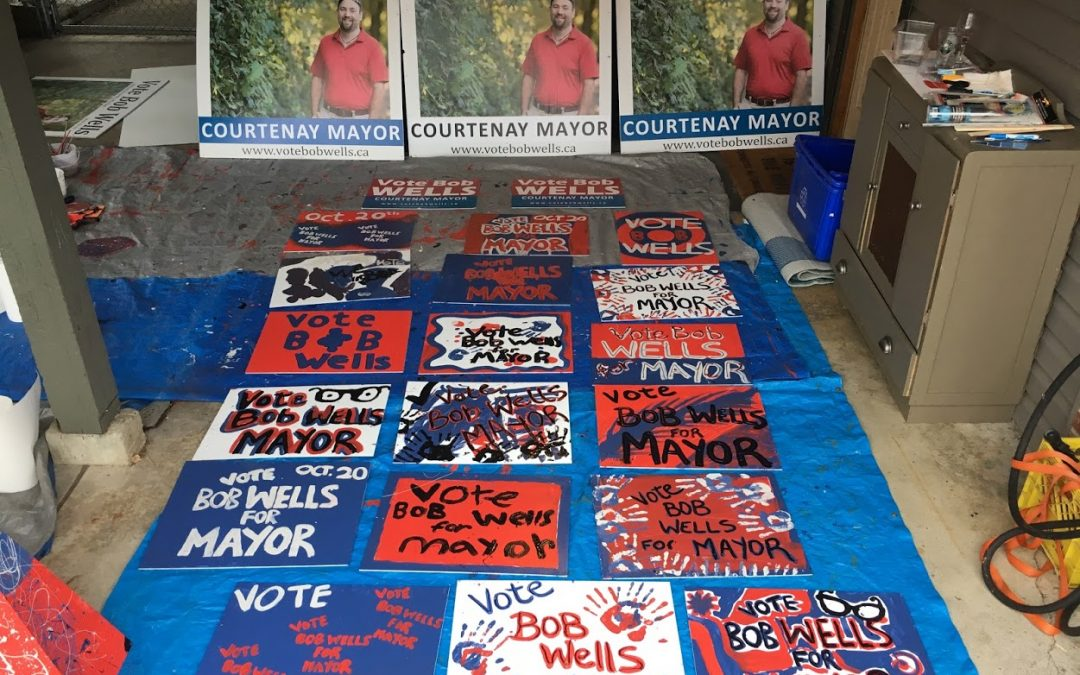 Bob Wells for Mayor Sign Painting Party