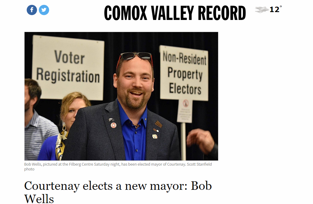 Courtenay elects a new mayor: Bob Wells