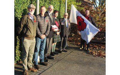 Poppy Fund Campaign kicks off with flag-raising ceremony at Courtenay city hall